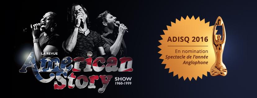 ADISQ 2016 – La Revue American Story en nomination
