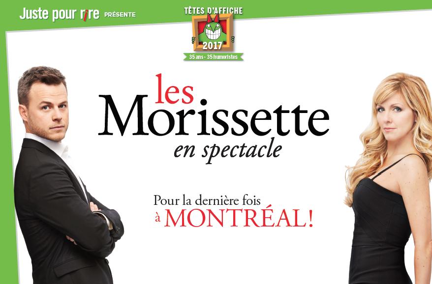 Les Morissette, têtes d'affiche du 35e Festival Juste pour Rire